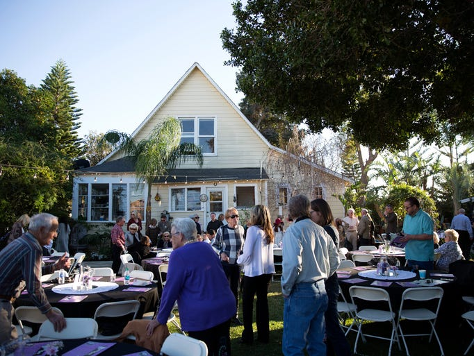 "People gather earlier this month for ""The Last of Simiopolis,"""