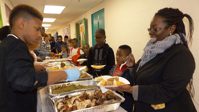 Plainfield Keystone Teen Leadership Club hosted a Thanksgiving Dinner for members, their families and volunteers on Nov. 19.