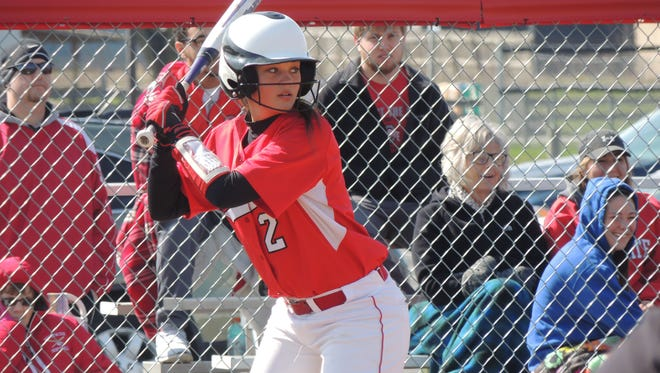 Bucyrus' Catherine Pojman waits for the pitch against the Galion Tigers on Saturday afternoon.