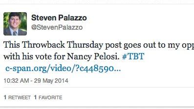Palazzo's tweet