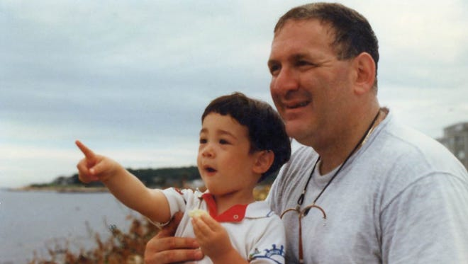 Belle Mead author Lewis Freimark and his son.