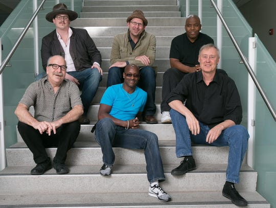 Bruce Hornsby, bottom right, and The Noisemakers are
