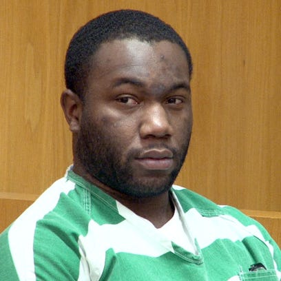 Jashon Brinson is shown during his initial appearance