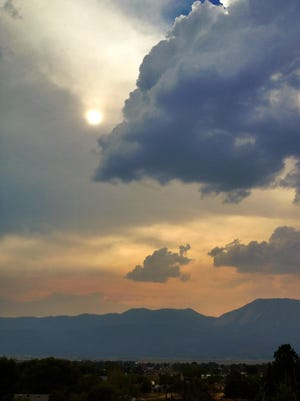 The sun is hazy on a smoky day in Washoe Valley in August 2013.