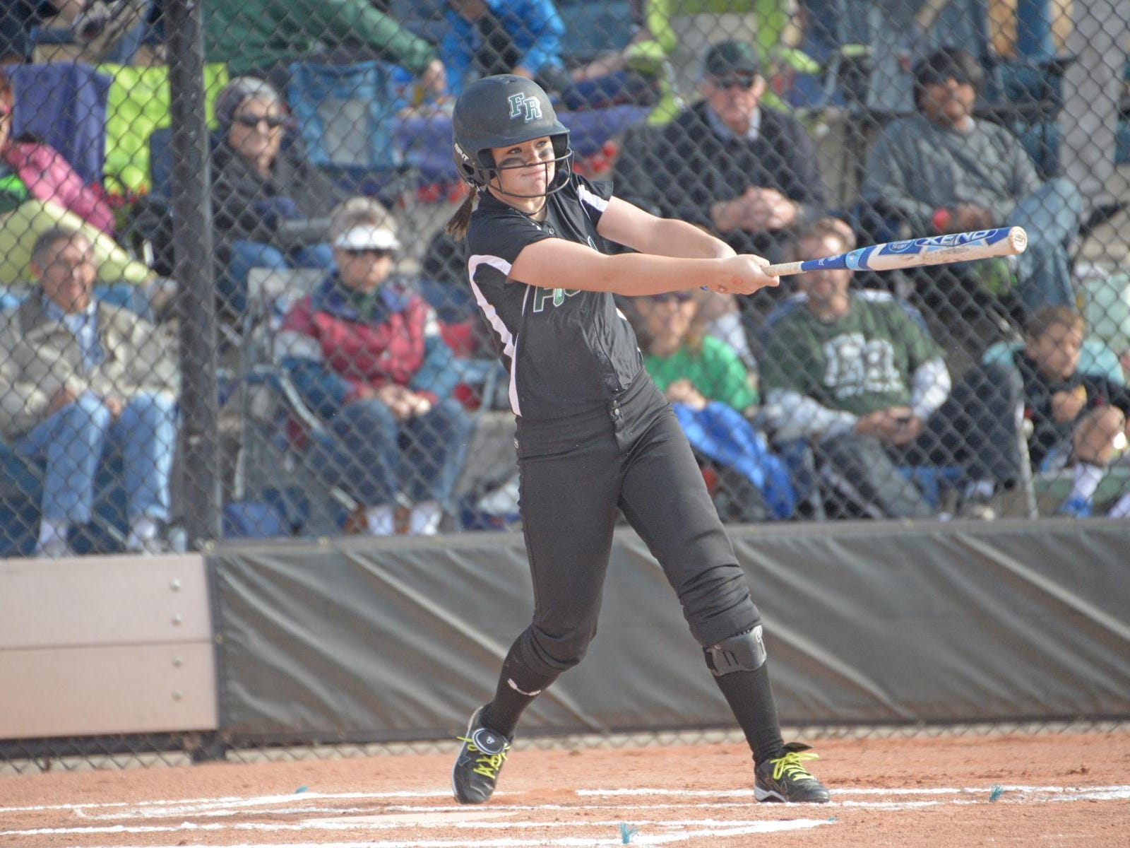 Fossil Ridge's Haley Donaldson leads all area softball players in batting average in the 2015 season.