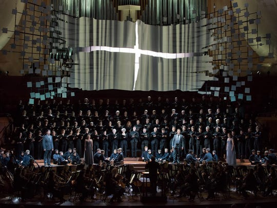 "James Darrah created staging for a multimedia production of Beethoven's ""Missa Solemnis,"" a co-production of the San Francisco Symphony and Los Angeles Philharmonic."