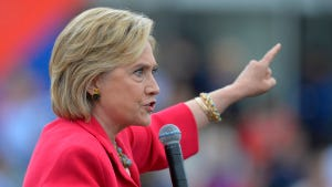 Democratic presidential candidate Hillary Rodham Clinton speaks on Aug. 27, 2015, in Cleveland.