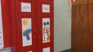 Izzy's Closet is stocked with basic supplies for needy students.