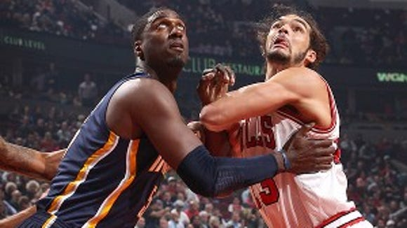 They don't have to be friends for Roy Hibbert to have respect for Joakim Noah.