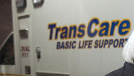 A TransCare ambulance.