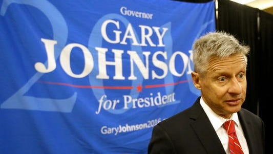 Gary Johnson, the Libertarian Party's presidential nominee, will address the U.S. Conference of Mayors on Monday, June 27, 2016.