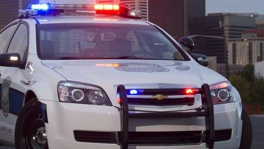 A Chevrolet Caprice patrol vehicle.