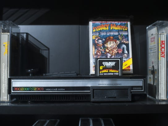 A ColecoVision retro game, shown at the home of collector