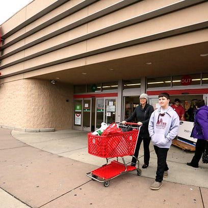 Samantha and Abe Flood of Fond du Lac exit Target on