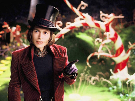 Creepy or creepier? Johnny Depp as Willy Wonka in 2005's