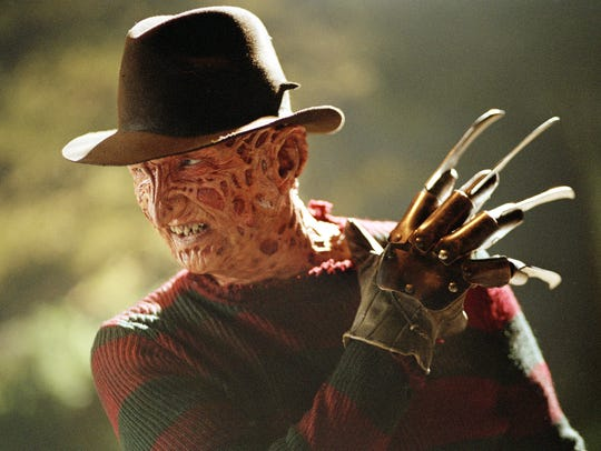 Robert Englund played horror villain Freddy Krueger