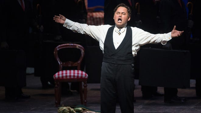 Javier Camarena is Don Ramiro during a performance of ?La Cenerentola? at the Metropolitan Opera in New York on April 25, 2014. On the heels of his rare encore at New York?'s Metropolitan Opera in late April, Camarena is marking the 10th anniversary of his international career this week by giving his first professional performance ever in his hometown.