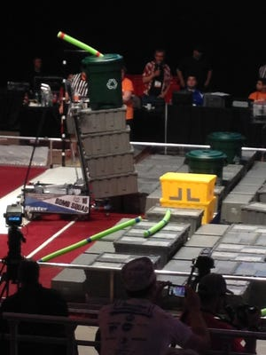 The Mountain Home High School Bomb Squad robot in action at World Championships in St.Louis