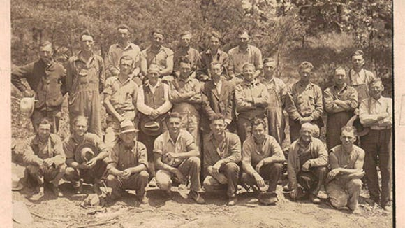 A scene from Newberry Township's Camp Ganoga, a Boy Scout camp on the Conewago Creek, in 1936.