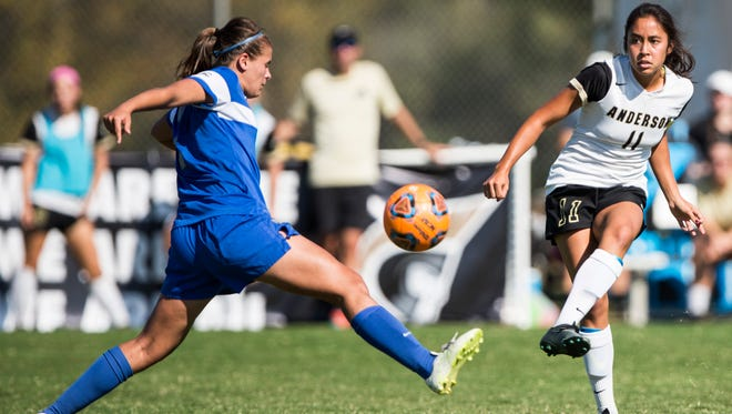 Anderson University senior Alaina Gay is second on the team in points (12) and goals (5).