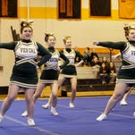 Vestal varsity compete Sunday at the STAC Cheerleading Championships at Union-Endicott High School.