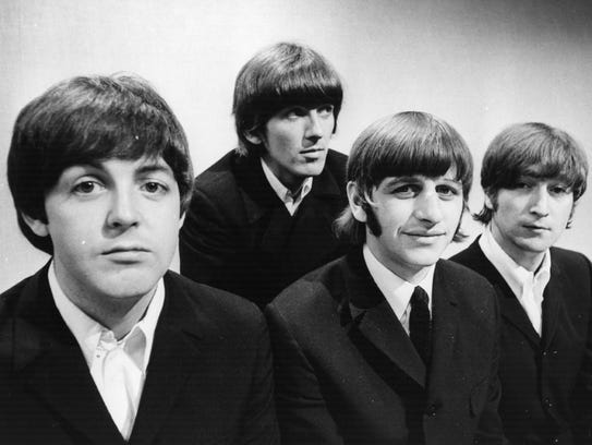 The Beatles (from left: Paul McCartney, George Harrison,