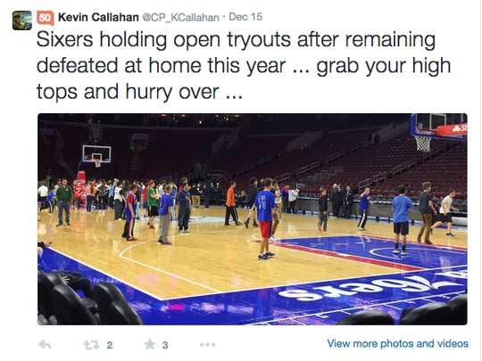 File: Tweet sent out by Kevin Callahan
