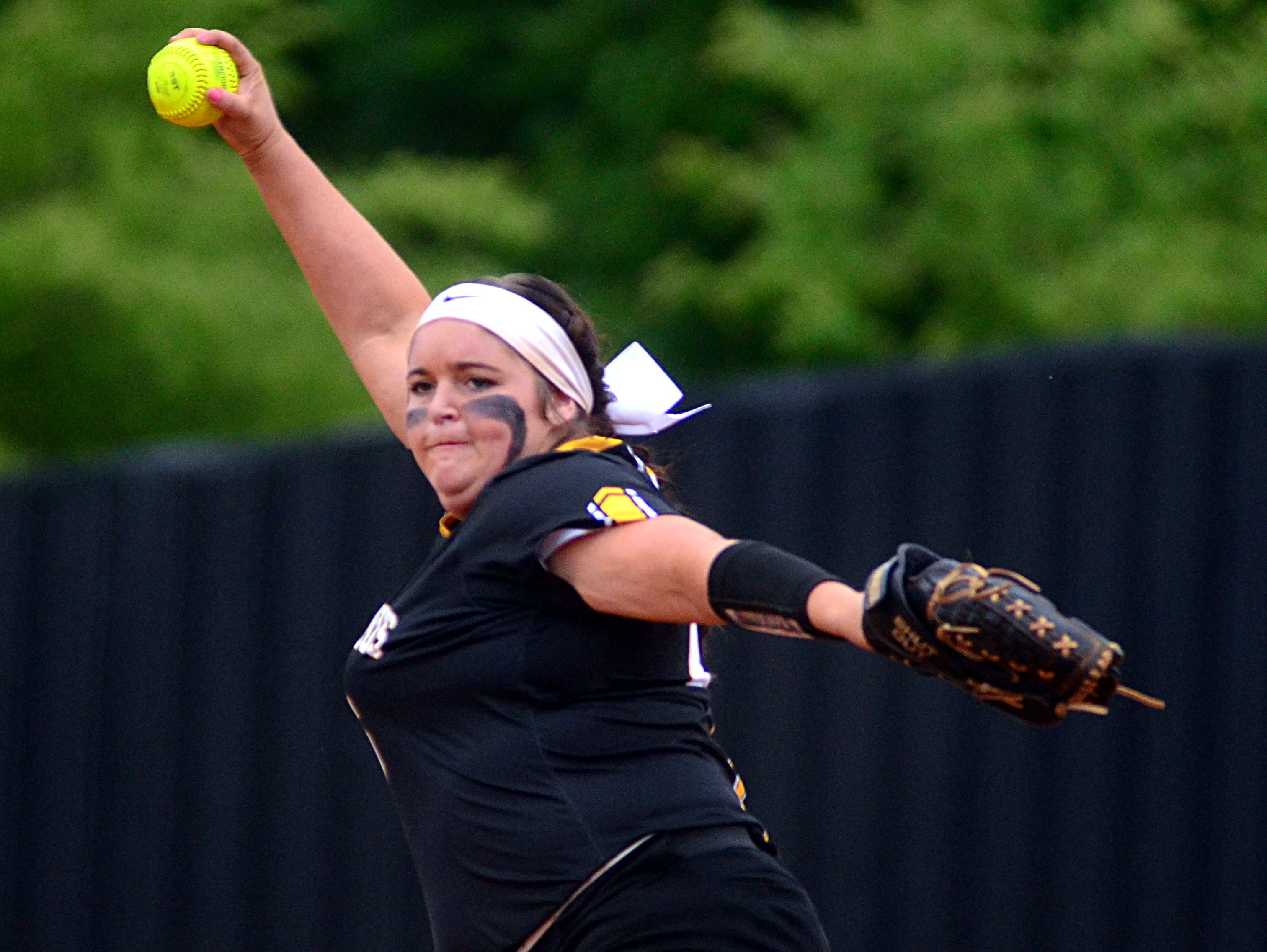 Hendersonville High senior Carley Carlisle struck out 10 Henry County hitters in Monday evening's 5-2 victory.