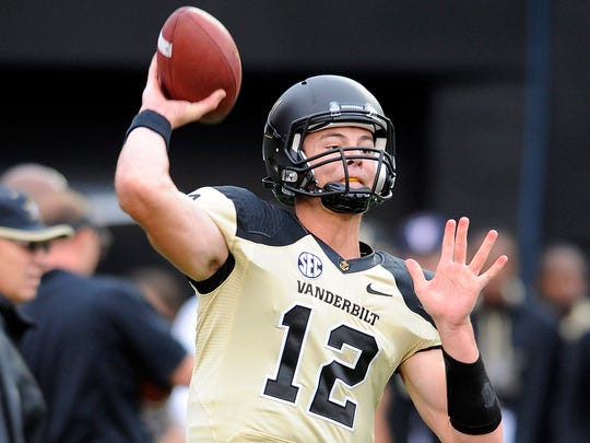 Vanderbilt's Wade Freebeck is competing with Johnny