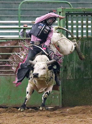 Milford's Stetson Wright, shown at last year's Rocky Mountain Pro Rodeo Association Finals, is one of Utah's top prep cowboys.