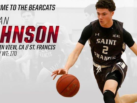Logan Johnson has joined the Cincinnati Bearcats.