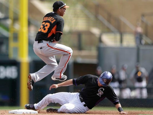 Giants Rockies Spring Baseball