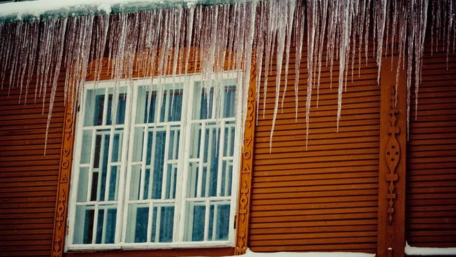 Ice dams and icicles form when water from melting snow re-freezes at the edge of your home's roofline.
