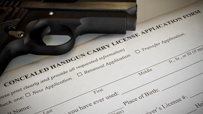 Concealed handgun permit application.