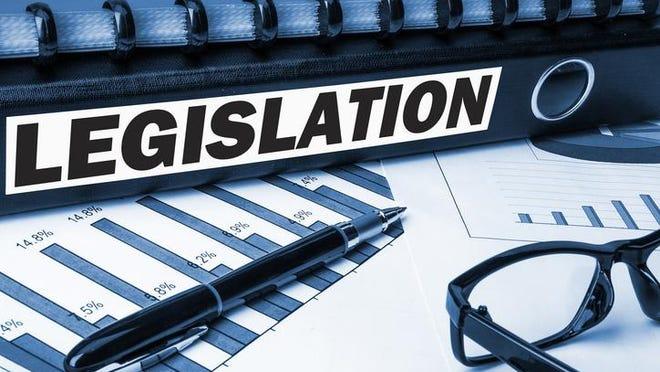 legislation label on business document folder