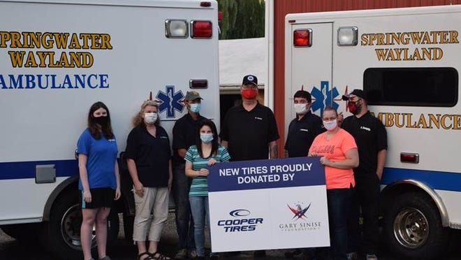 Springwater and Wayland EMS continues to get help from the Gary Sinise Foundation. They have brand new Cooper Tires on both of the ambulances, with some extra help from Cooper Tires.