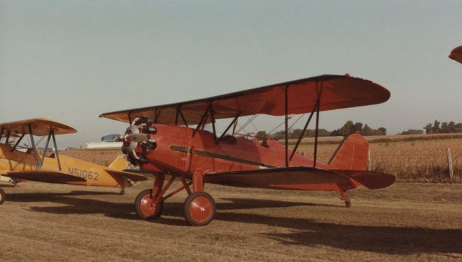 The open-cockpit Stearman PT-17 biplane was flown in the 1930s and early 1940s, and was used widely for American pilots-in-training for World War II.