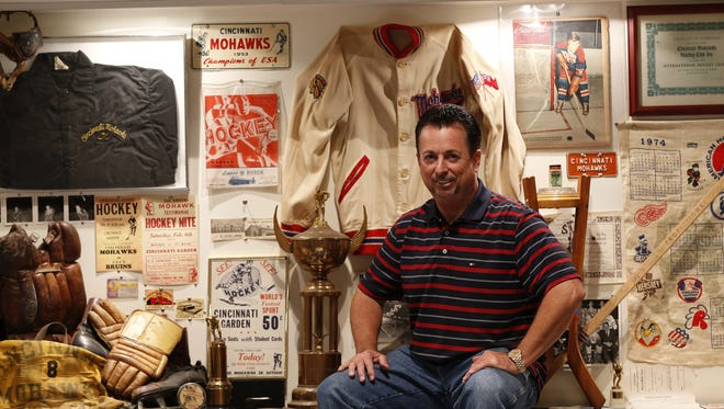 Dave Greene calls himself the 'accumulator' for the Cincinnati Gardens Legends Museum, which holds memorabilia from concerts, games and other events at the arena.
