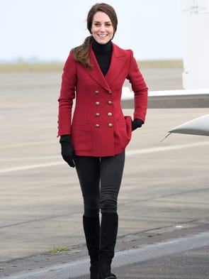 With a nod to Valentine's Day, Duchess Kate suited