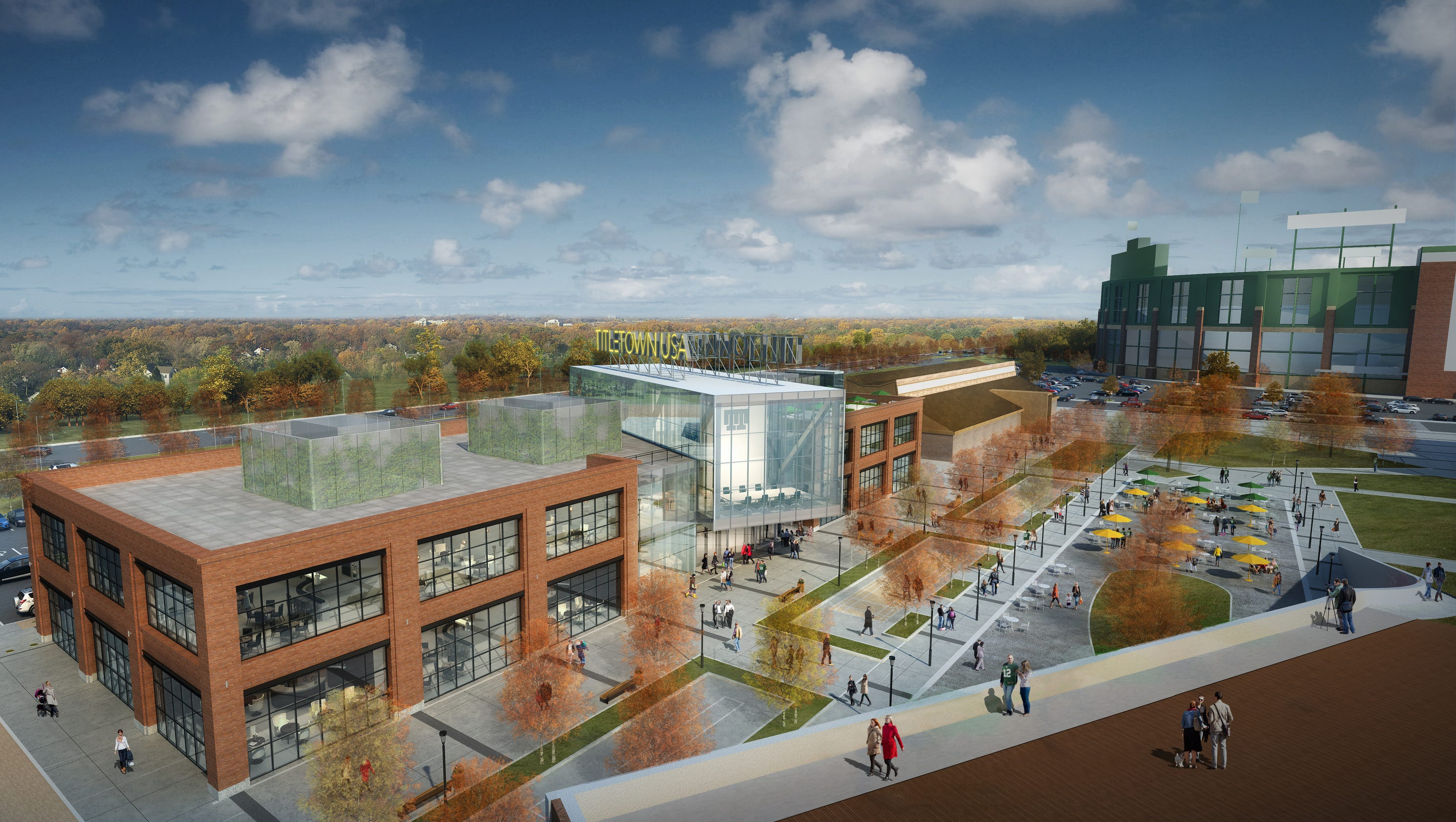 Town Planner Calendar Green Bay Wi : Packers microsoft bring silicon valley to titletown district