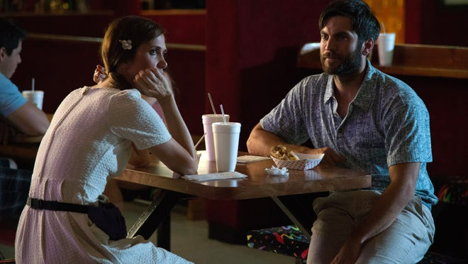 "Wes Bentley and Kristen Wiig appear in a scene from ""Welcome To Me."""