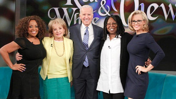 "Vice President Biden on the set of ""The View"" earlier this week."