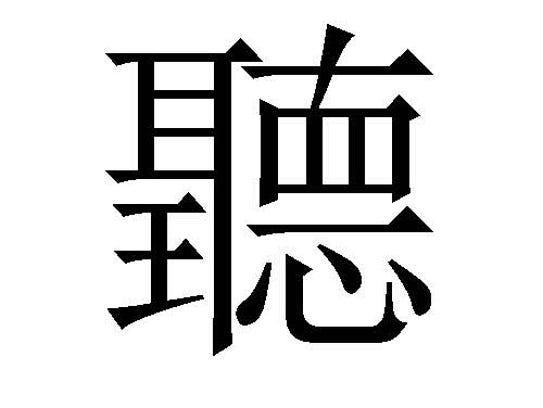 Ting is the Chinese character for listening.