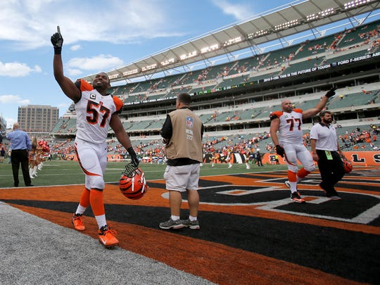 Cincinnati Bengals outside linebacker Vincent Rey is looking forward to playing the New York Jets on Sept. 11 as they recognize those affected by the attacks on Sept. 11, 2001.