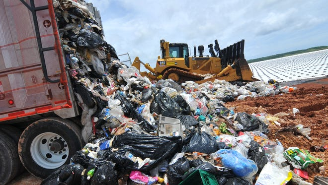 The Layon Landfill is shown in this file photo. The governor's office, in a statement Thursday, said some of the trash fee collections that went toward paying debt for Layon Landfill could have been used to help Guam Memorial Hospital.