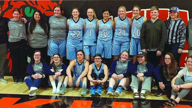 The Skyline High School girls basketball season ended March 2 when the Lady Thunderbirds lost, 20-50, to Elkart in the first round of sub-state action. The Lady Thunderbirds were 3-17 for the season.