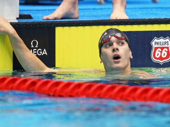 Gunnar Bentz competes in the men's 200 butterfly during