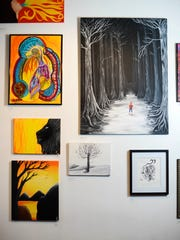 Work by local artists like Dustin Nispel's 'Miles to