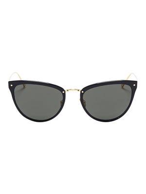 Linda Farrow    sunglasses, $650,    LaneCrawford.com.