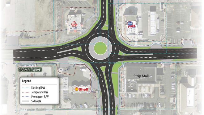 Carmel has begun $229 million worth of locally funded work to build 32 roundabouts and other infrastructure improvements through 2019.